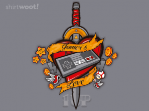 Woot Shirt, Gamer's Love