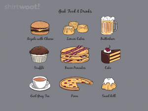 Woot Shirt. Geek Food