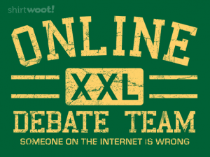 Woot Shirt, Online Debate Team