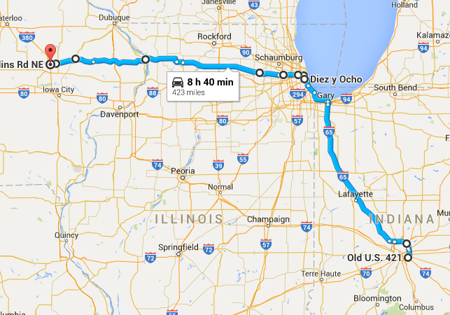 Road Trip Map Day 3, 2015